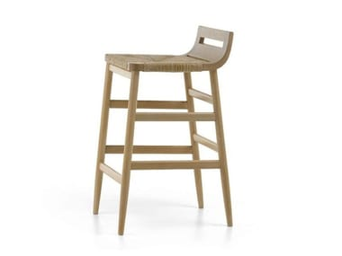 High oak barstool KIMUA | High stool