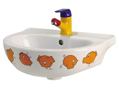 Lavabo in porcellana per bambini BIRDO | Lavabo