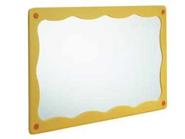 Specchio con cornice per bagno per bambini BIRDO | Specchio per bambini