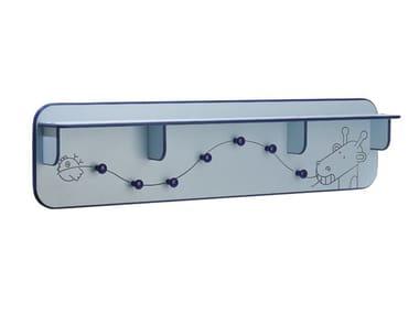 Porta asciugamani / mensola bagno in HPL BIRDO | Porta asciugamani