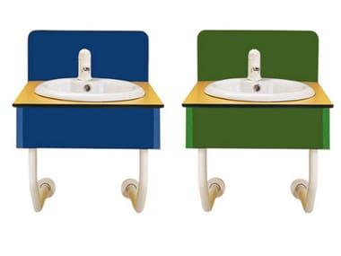 Modulo sanitario per lavabo ispezionabile BAGNOCUCCIOLO®-MILLEPIEDI