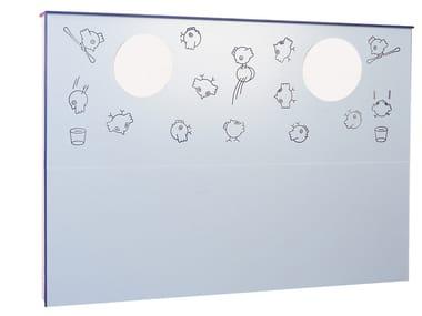 Modulo sanitario in laminato per lavabo BIRDO | Modulo sanitario per lavabo