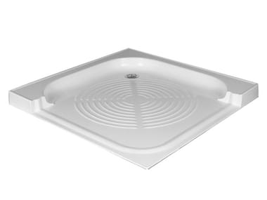 Corner fiberglass shower tray 400 | Corner shower tray
