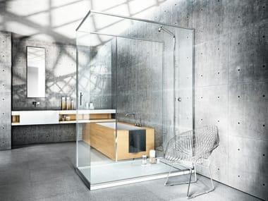 Corner rectangular shower cabin LINEA
