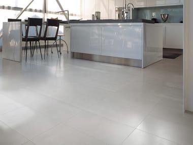 Porcelain stoneware flooring with concrete effect LOFT