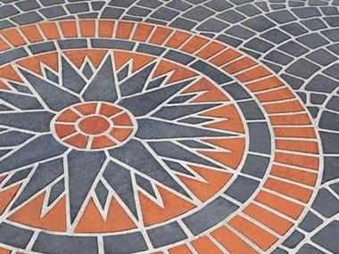 Outdoor floor tiles STENCILTOP