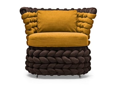 Club upholstered armchair ZIGGY | Armchair