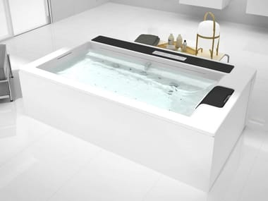 Seated bathtub IN-FLOW