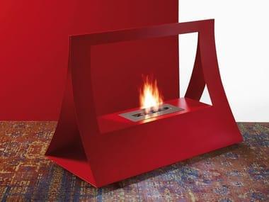Bioethanol vent free steel fireplace BAGGIE