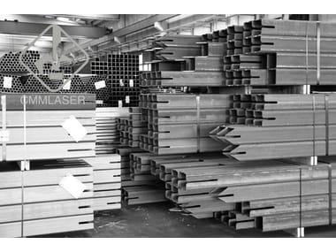 Taglio laser tubi in acciaio Sistema costruttivo in carpenteria metallica