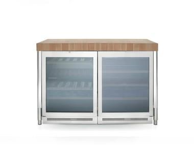 Vinoteca de libre instalación con puerta de cristal LIBERI IN CUCINA | Vinoteca de libre instalación