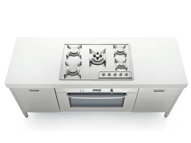 Unidad de cocina de acero inoxidable LIBERI IN CUCINA 190