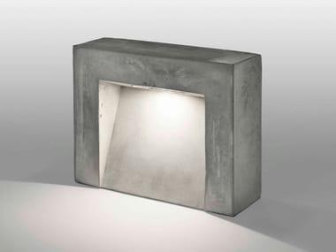 Lampada da terra per esterno a LED in cemento CENTO3CENTO