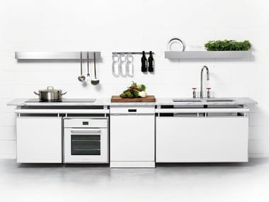 Linear fitted kitchen AXIS Wall
