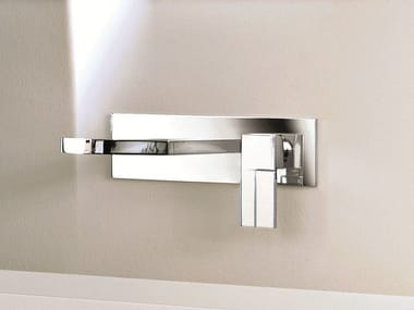 Wall-mounted washbasin mixer with plate AR/38 | Washbasin mixer with plate