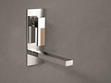 Wall-mounted washbasin mixer with plate AR/38 | Wall-mounted washbasin mixer