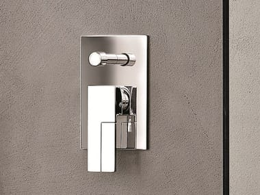 Shower mixer with diverter with plate AR/38 | Shower mixer with plate