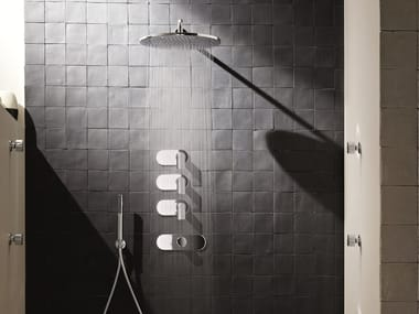 4 hole shower tap with overhead shower MARE | 4 hole shower tap