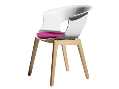 Polycarbonate chair NATURAL MISS B ANTISHOCK