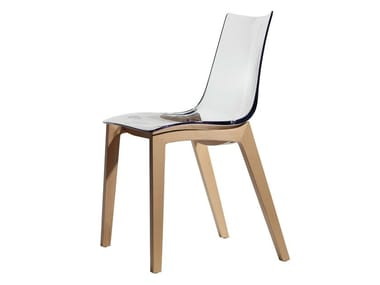 Polycarbonate chair NATURAL ZEBRA ANTISHOCK | Chair