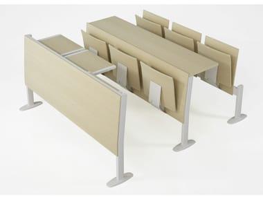 Chaises sur poutre avec assise pliante PLATONE