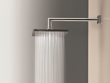 Wall-mounted overhead shower with arm Overhead shower with arm