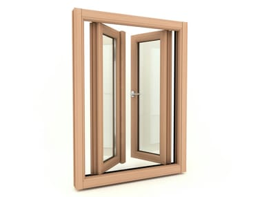 Wooden horizontally pivoted window EUROPA | Horizontally pivoted window