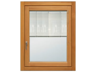 Aluminium and wood window with built-in blinds ETERNITY MAXI | Window with built-in blinds