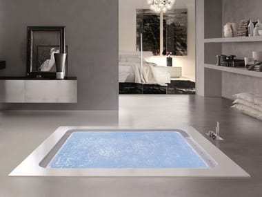 Built-in whirlpool bathtub BOLLA Q190 SFIORO