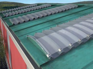 Modular system of corrugated multiwall polycarbonate ARCOPLUS® SUPER 1000 CURVO