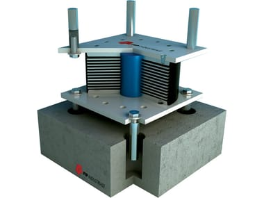 Elastomeric isolators with lead core LRB | Seismic isolator