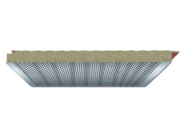 Sound insulation and sound absorbing panel in mineral fibre TOP WA