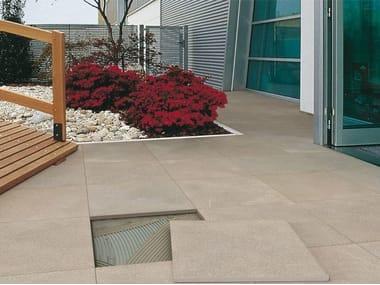 Pavimento per esterni in gres porcellanato effetto pietra CM2 | PIETRA PIASENTINA