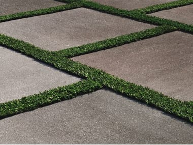 Porcelain stoneware outdoor floor tiles with stone effect CM2 | BASALTO GRIGIO