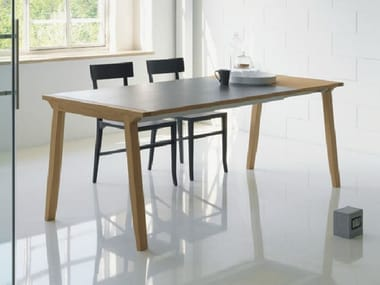 Extending wooden dining table PIGRECO