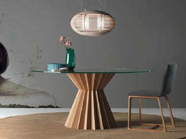 Round wooden dining table SUPERSTAR