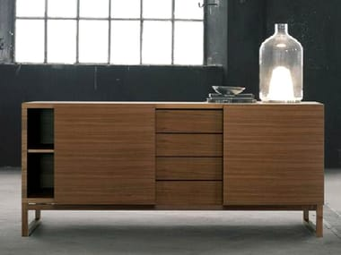 Solid wood sideboard with doors FAST
