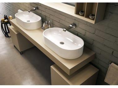 Pass 72 lavabo sospeso by ceramica flaminia for Flaminia lavabi