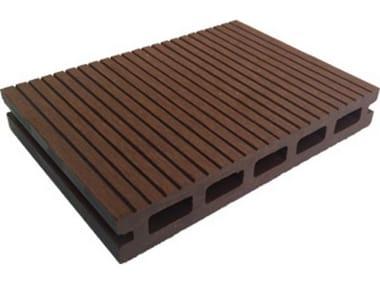 Engineered wood outdoor floor tiles / decking Hollow Profile 2200 Copper Brown