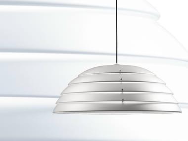 Aluminium pendant lamp CUPOLONE