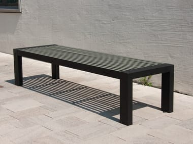 Backless stainless steel and PET Bench COMFONY 10 | Backless Bench