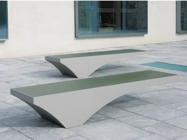 Backless stainless steel and PET Bench COMFONY 50
