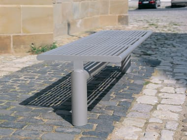 Stainless steel Bench SIARDO L 40 R | Backless Bench