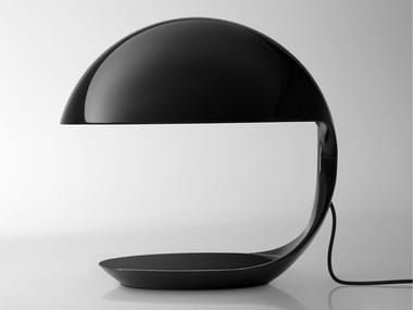 Swivel resin table lamp COBRA