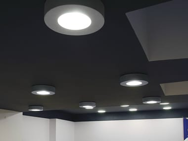Direct light fluorescent ceiling lamp CORONA
