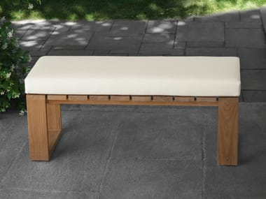 Teak garden bench SQUARE | Garden bench