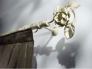 Classic style wrought iron curtain rod CLARISSA