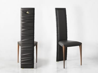 High-back leather chair IL PEZZO 7 | Chair