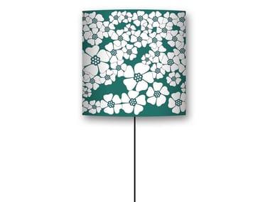 Drum shaped lampshade CHAMP DE FLEURS