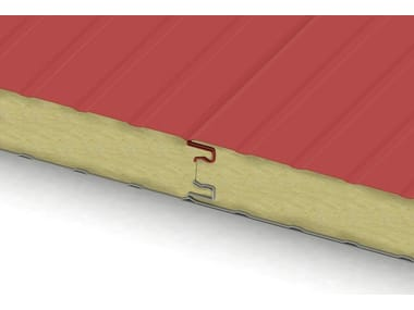 Insulated metal panel for roof / Insulated metal panel for facade ECOLINE FIBERMET